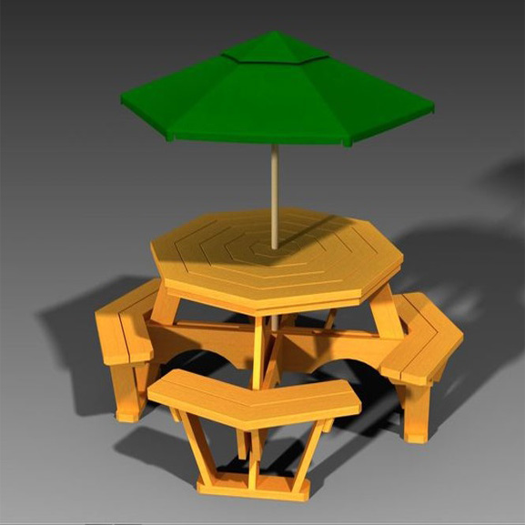 Garden table umbrella