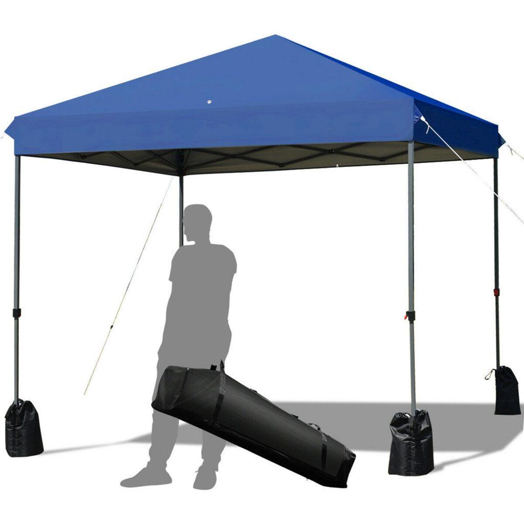 tent umbrella blue
